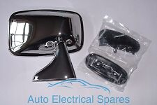 CLASSIC CAR CHROME Right Hand Rectangular Door Mirror MGB TRIUMPH
