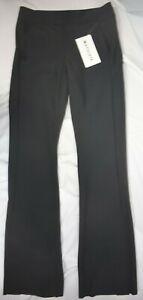 NWT $148 Athleta Size 2 4P 4 8P 8 10P Black Stellar Flare Trouser Pants #486208