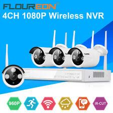 4CH 1080P CCTV Wireless DVR Outdoor IR-CUT 960P Wifi IP Camera NVR Security Kit