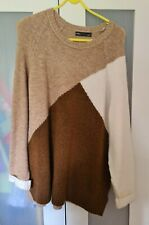 Marks And Spencer M&S Size Large Brown Block Jumper Charity Auction