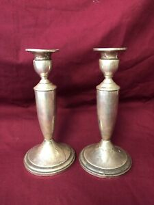 Sterling Silver Towle Candlestick Pair Vintage