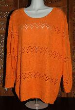 Women's  Jones New York Sport Lacey Mango Knit Sweater - Size XXL