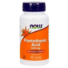 Vitamin B-5, Pantothenic Acid, 500mg x 100 Capsules - NOW Foods