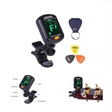 Aroma Clip On Tuner Rotatable With Free Pu Pick Holder And 3 Pcs Alice Guitar &