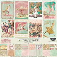 Authentique IMAGINE 12x12 Collection Kit Papers + Stickers Carousel Play Dream