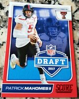 PATRICK MAHOMES II 2017 Score #1 Draft Pick RED SP Rookie Card RC Chiefs $ HOT $
