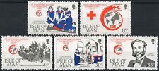 ISLE OF MAN MNH UMM STAMP SET 1989 RED CROSS ANNIVERSARY SG 424-428