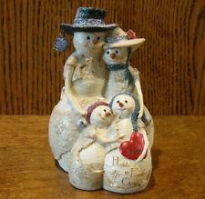 "Birch Hearts Snowmen Figurine  81043 ""Love Holds Family Close"" by BARB McDONALD"