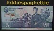 Korea North 5 Won 1998 Specimen UNC P-40s.