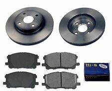 Front Ceramic Brake Pad Set & Rotor Kit for 2012-2014 Toyota Yaris W REAR DRUM