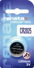 3V Lithium, 2025 3 volts 1 x Renata Cr2025 Batteries,