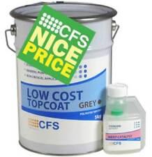Low Cost Fibreglass/GRP Flat Roofing Dark Grey Topcoat Ral 7011 5kg