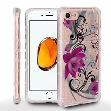 For iPhone 8, 7 Air Cushion Shield Crystal Clear Cover LOTUS BLOOM