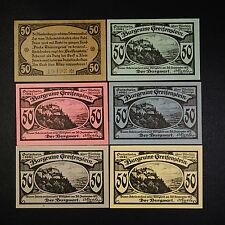 A 6 billets Top NOTGELD attaquera Pierre, Multicolore Papier, German Emergency money UNC