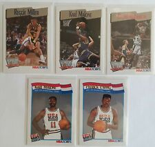 Lot de 5 Cartes Basketball NBA Hoops 91/92 Malone / Miller / Robinson / Ewing