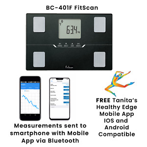 Tanita BC-401F FitScan Travel Smart Body Composition Scale 10 Full Readings