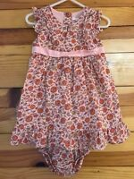 Janie and Jack Dress Girls 2 Piece Pink Floral Bohemian Spice Size 12-18 Months