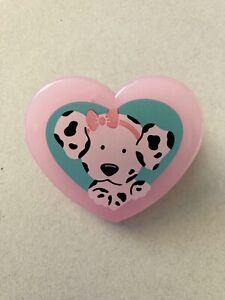 Vintage Sanrio 1990 Spottie Dottie Plastic Heart Shaped Clip Japan