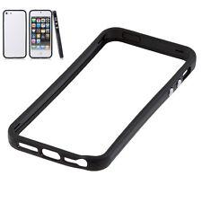 Noir coque case pour apple iphone 5/5S/se plastique dur protection caoutchouc jante