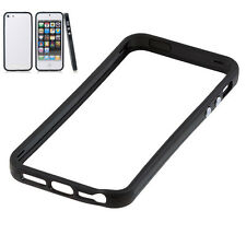 PARACHOQUES negro caso para Apple iPhone 5/5S/SE Plástico Duro proteger Borde De Goma
