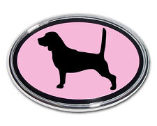 Beagle Pink and Chrome Car Truck Emblem High Quality Made in the USA! (NEW)
