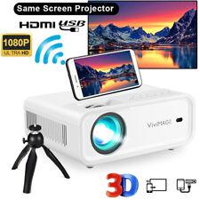 VIVIMAGE Explore 2 Mini LED Projektor WiFi Wireless Heimkino Beamer 1080P FULL