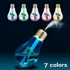 7 Color USB Bulb Electric Diffuser Humidifier Air Purifier LED Moisturizing Gift