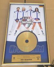 beFour Gold Award - goldene Schallplatte - We Stand United 2009 - Musikpreis