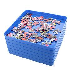 Jigitz Jigsaw Puzzle Sorter Trays - 6PK Plastic Puzzle Organizer Trays in Blue