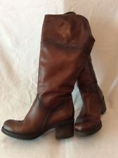 Tamaris Brown Knee High Leather Boots Size 38
