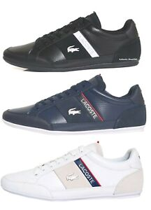 Lacoste Brand Chaymon 0721 2 Men Fashion Casual Shoes Sneakers Black Blue White