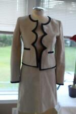 J CREW SCALLOP EDGE LINEN JACKET WITH SKIRT SUIT SIZE 2  (SU100