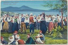 BOSNIA Slavic Dance KOLO Costume National Dress Vintage Colour PC c1910s