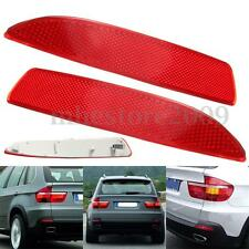 Pair Rear Bumper Reflector Red For BMW X5 E70 2007-2013 63217158949 63217158950