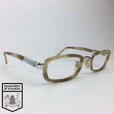 TRUSSARDI eyeglass BONE MOTTLE RECTANGLE frame Authentic. MOD: VISIBILIA 20065F