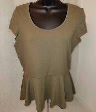 Hot Kiss Womens Green Shirt Top Size L