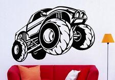 Monster Truck Wall Decal Vinyl Sticker Big Monster Car Interior Art Decor (8bmc)