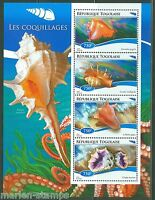 TOGO  2015 SEASHELLS   SHEET MINT NH