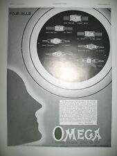 PUBLICITE DE PRESSE OMEGA MONTRE POUR ELLE ILLUSTRATION KRAMER FRENCH AD 1930