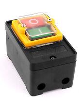 1Stk 2 Positionen 3P ein/aus Rastung wasserdicht Druckknopf Schalter AC 220V 10A