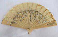VINTAGE anni 1920 Flapper dipinti a mano celluloide BRISE Fan-fiori