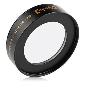Opteka 10x Macro Close-Up Lens for 58mm Threaded Digital Camera Lenses