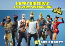 personalised birthday card Fortnite any name/age/relation.