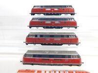 CE367-2# 4x Märklin H0 Guss-Gehäuse für 3021 Diesellokomotive V 200, gebraucht