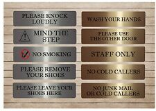 VITAL HOUSE OFFICE SIGN Bell Mail Dog Door Gate LARGE METAL GOLD SILVER WHITE
