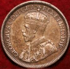1929 Canada 10 Cents Silver Foreign Coin
