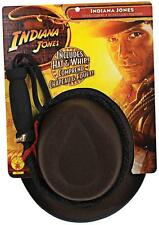 Indiana Jones Explorer Hat & Whip Toy Fancy Dress Halloween Costume Accessory