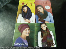 Hayfield Illusion Double knitting pattern 7854 Easy Knit Poncho Accessories