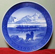 "Royal Copenhagen 1968 Christmas Collector Plate ~ ""The Last Umiak"" by Kai Lange"