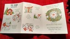 Vintage Christmas Card funny message Dad Hallmark cute animals